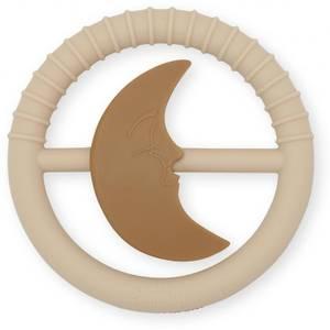 Bilde av silicone toys moon rattles - rose